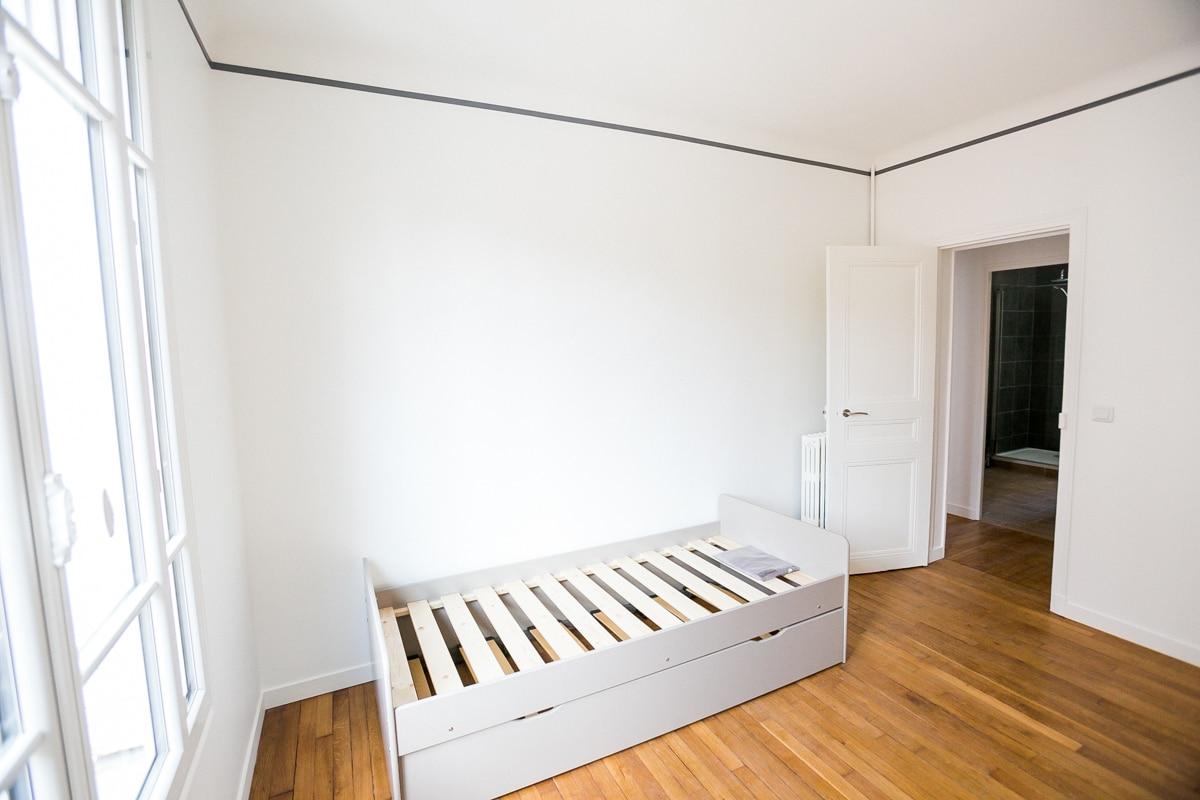 Chambre avec liseret Joordan gris Anthracite