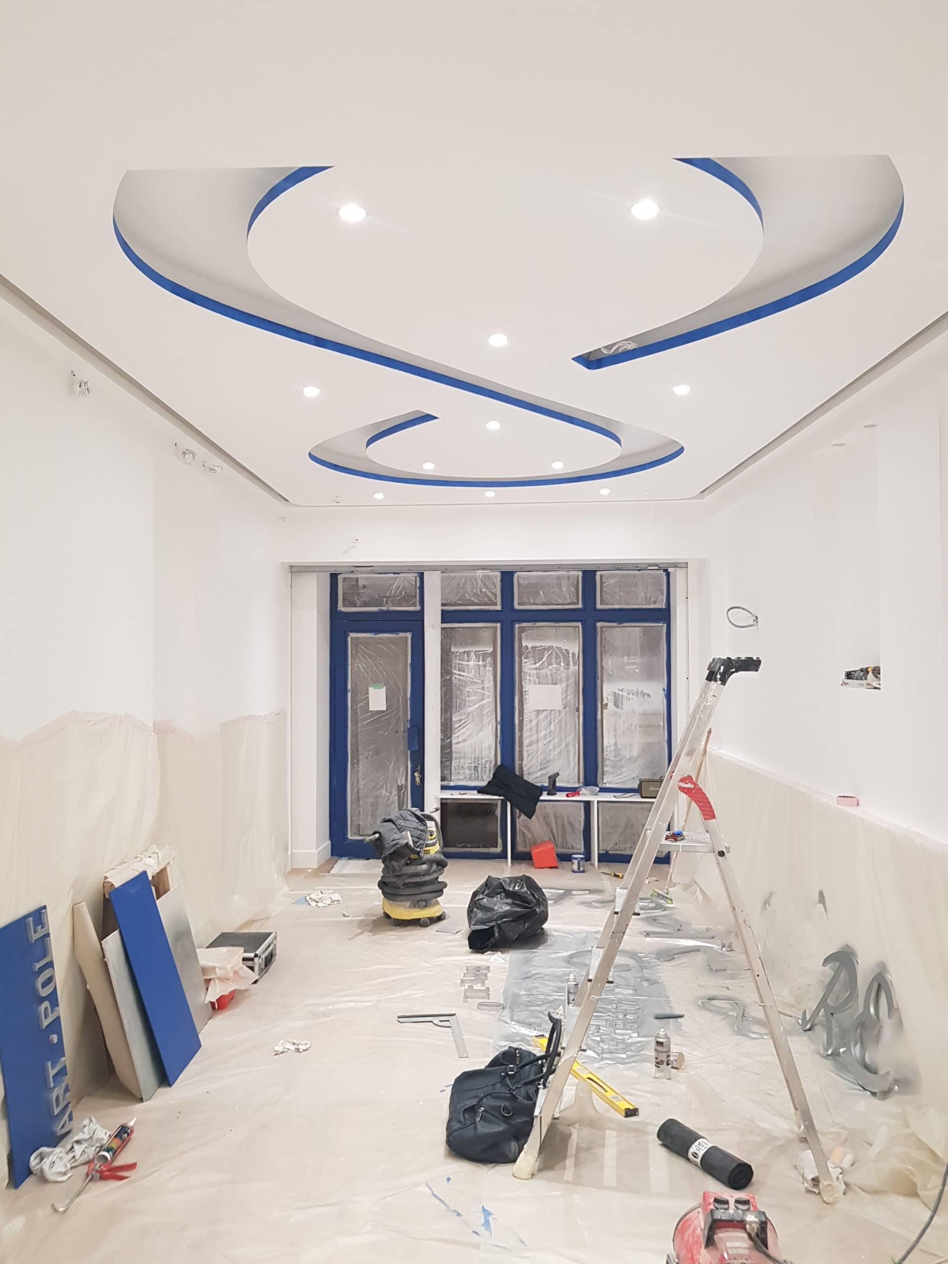 Plafond décoratif en placo